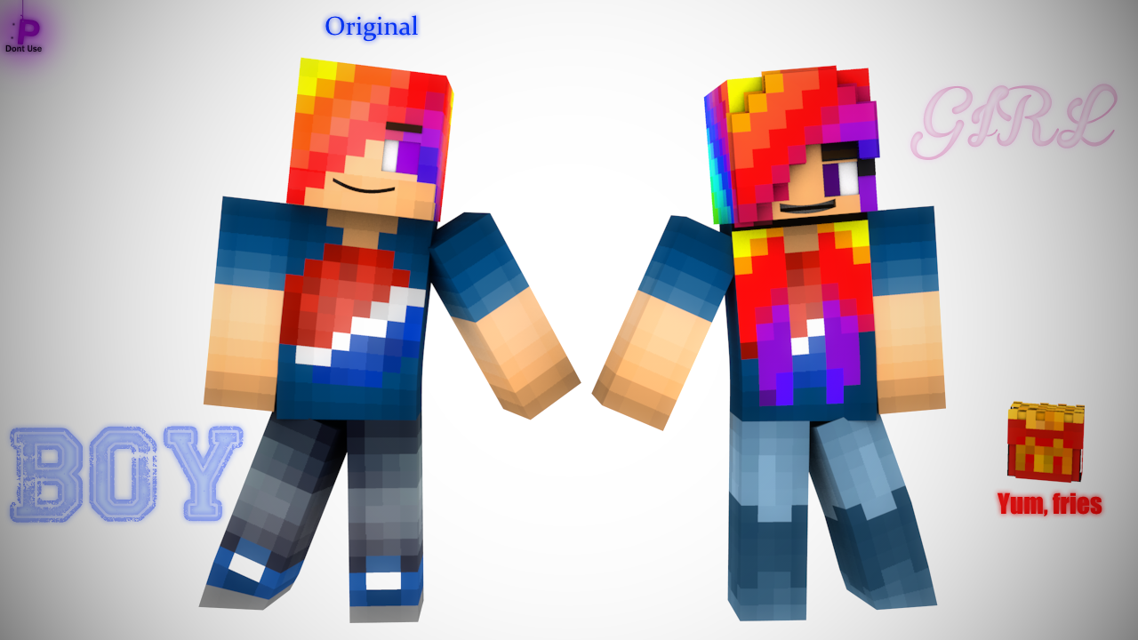 The gender bender game cowcraft this is what my character would look like as a girl ccuart Images